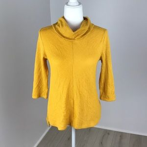 Anthropologie W5 Cowl Neck Half Sleeve Top Size S